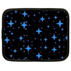 Bright Blue  Stars In Space Netbook Case (xl)  by Costasonlineshop