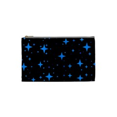 Bright Blue  Stars In Space Cosmetic Bag (small)  by Costasonlineshop