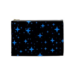 Bright Blue  Stars In Space Cosmetic Bag (medium)  by Costasonlineshop