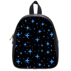 Bright Blue  Stars In Space School Bags (small)  by Costasonlineshop