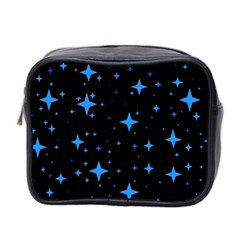 Bright Blue  Stars In Space Mini Toiletries Bag 2 Side by Costasonlineshop