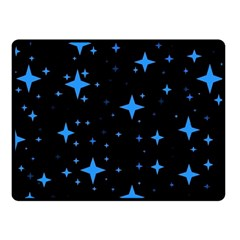Bright Blue  Stars In Space Fleece Blanket (small)