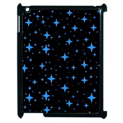 Bright Blue  Stars In Space Apple Ipad 2 Case (black) by Costasonlineshop