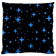 Bright Blue  Stars In Space Large Cushion Case (one Side) by Costasonlineshop