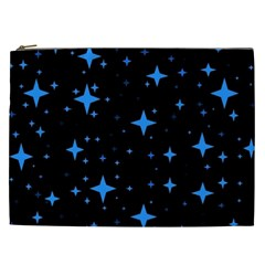 Bright Blue  Stars In Space Cosmetic Bag (xxl)  by Costasonlineshop