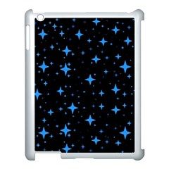 Bright Blue  Stars In Space Apple Ipad 3/4 Case (white) by Costasonlineshop