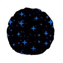 Bright Blue  Stars In Space Standard 15  Premium Round Cushions by Costasonlineshop
