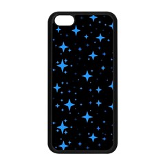 Bright Blue  Stars In Space Apple Iphone 5c Seamless Case (black) by Costasonlineshop
