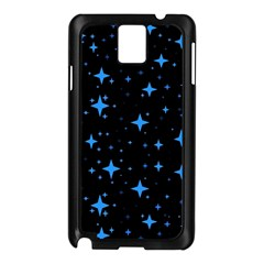 Bright Blue  Stars In Space Samsung Galaxy Note 3 N9005 Case (black) by Costasonlineshop