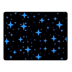 Bright Blue  Stars In Space Double Sided Fleece Blanket (small)  by Costasonlineshop