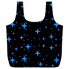 Bright Blue  Stars In Space Full Print Recycle Bags (l)  by Costasonlineshop