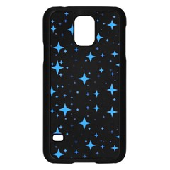 Bright Blue  Stars In Space Samsung Galaxy S5 Case (black) by Costasonlineshop
