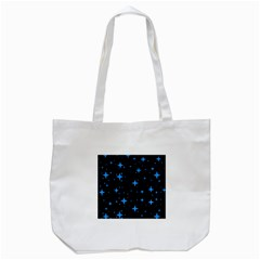 Bright Blue  Stars In Space Tote Bag (white) by Costasonlineshop
