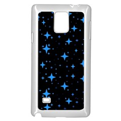 Bright Blue  Stars In Space Samsung Galaxy Note 4 Case (white) by Costasonlineshop