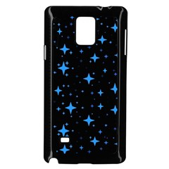 Bright Blue  Stars In Space Samsung Galaxy Note 4 Case (black) by Costasonlineshop