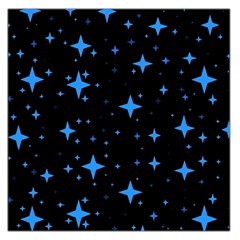 Bright Blue  Stars In Space Large Satin Scarf (square) by Costasonlineshop