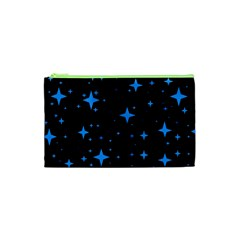 Bright Blue  Stars In Space Cosmetic Bag (xs) by Costasonlineshop