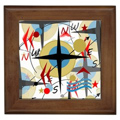 Compass 4 Framed Tiles by Valentinaart