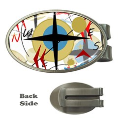 Compass 4 Money Clips (oval)  by Valentinaart