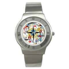 Compass 4 Stainless Steel Watch by Valentinaart