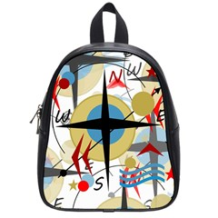 Compass 4 School Bags (small)  by Valentinaart