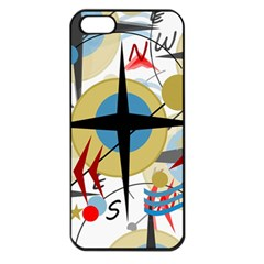 Compass 4 Apple Iphone 5 Seamless Case (black) by Valentinaart