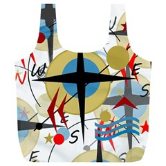 Compass 4 Full Print Recycle Bags (l)  by Valentinaart