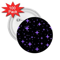 Bright Purple   Stars In Space 2 25  Buttons (100 Pack)  by Costasonlineshop