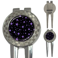 Bright Purple   Stars In Space 3 In 1 Golf Divots by Costasonlineshop