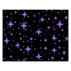 Bright Purple   Stars In Space Rectangular Jigsaw Puzzl by Costasonlineshop