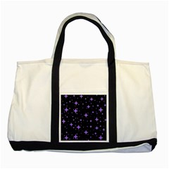 Bright Purple   Stars In Space Two Tone Tote Bag by Costasonlineshop