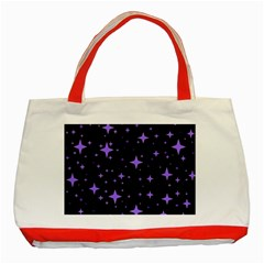 Bright Purple   Stars In Space Classic Tote Bag (red) by Costasonlineshop