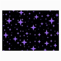 Bright Purple   Stars In Space Large Glasses Cloth by Costasonlineshop