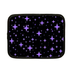 Bright Purple   Stars In Space Netbook Case (small)  by Costasonlineshop