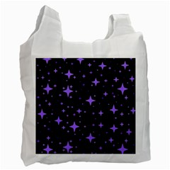 Bright Purple   Stars In Space Recycle Bag (one Side) by Costasonlineshop