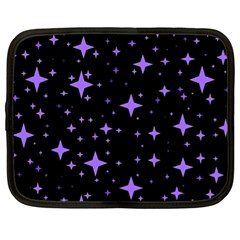 Bright Purple   Stars In Space Netbook Case (xl)  by Costasonlineshop