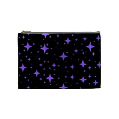 Bright Purple   Stars In Space Cosmetic Bag (medium)  by Costasonlineshop