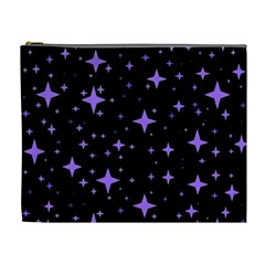 Bright Purple   Stars In Space Cosmetic Bag (xl) by Costasonlineshop