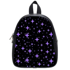 Bright Purple   Stars In Space School Bags (small)  by Costasonlineshop