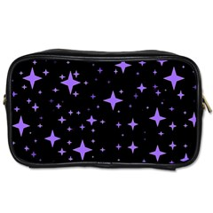 Bright Purple   Stars In Space Toiletries Bags 2 Side by Costasonlineshop