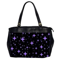 Bright Purple   Stars In Space Office Handbags (2 Sides)  by Costasonlineshop