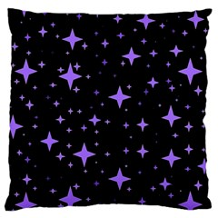 Bright Purple   Stars In Space Large Cushion Case (two Sides) by Costasonlineshop