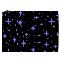Bright Purple   Stars In Space Cosmetic Bag (xxl)  by Costasonlineshop