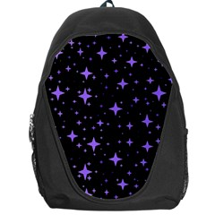 Bright Purple   Stars In Space Backpack Bag by Costasonlineshop