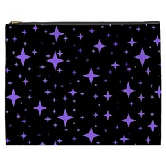 Bright Purple   Stars In Space Cosmetic Bag (xxxl)  by Costasonlineshop