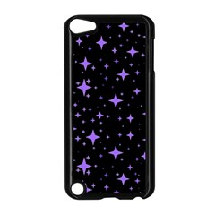 Bright Purple   Stars In Space Apple Ipod Touch 5 Case (black) by Costasonlineshop