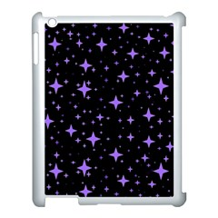 Bright Purple   Stars In Space Apple Ipad 3/4 Case (white) by Costasonlineshop