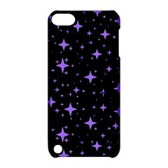 Bright Purple   Stars In Space Apple Ipod Touch 5 Hardshell Case With Stand by Costasonlineshop