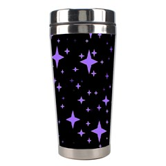 Bright Purple   Stars In Space Stainless Steel Travel Tumblers by Costasonlineshop
