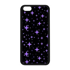 Bright Purple   Stars In Space Apple Iphone 5c Seamless Case (black) by Costasonlineshop
